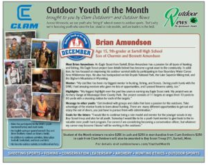 December 2016 Outdoor Youth of the Month