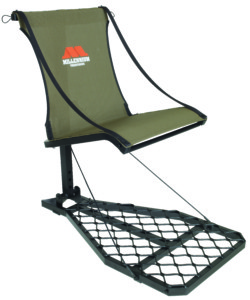 The M100 is one of the classic and most popular trees stand designs ever made; the M100U combines those design features with an aluminum-frame construction, giving it a weight of only 13.5 pounds — 20 percent lighter than the original M100. The M100U has the patented ComfortMAX seat with a back and side straps, providing the hunter a comfortable, stable seat that won't collect water. While the seat folds up for bowhunters who want a stand-up shot, the M100U can be mounted with the M101 optional shooting rail for gun or crossbow hunters. And when it's time to switch to a new stand site, the M100U folds flat and is easily carried with the included backpack straps. This is a stand that does it all, for bow or gun hunters, season after season.